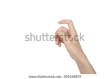 shape of hands hold a camera, isolated on white