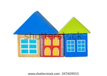 Shape toy with isolated white background - stock photo