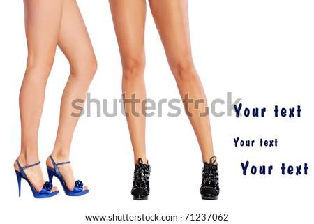 shapely female legs - stock photo