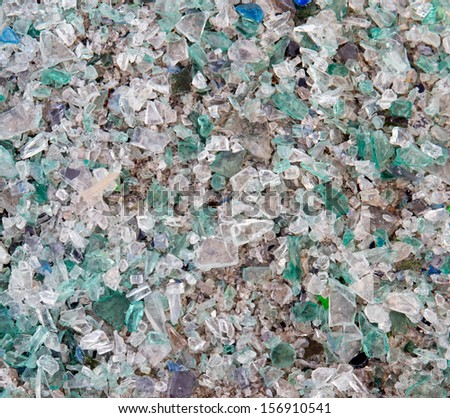 shards of shattered glass  - stock photo