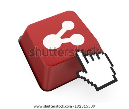 share icon  like social media - stock photo