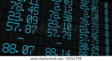 share market electronic board - stock photo