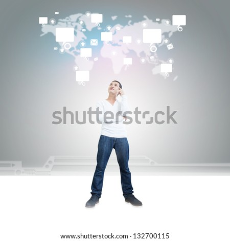 Share The World Concept - stock photo