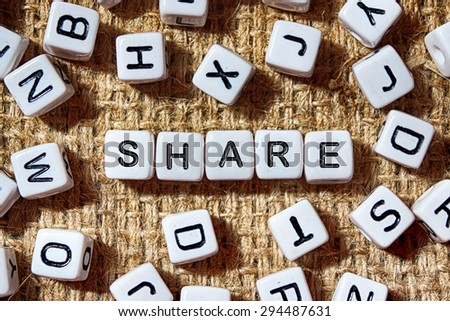 share word on white blocks concept - stock photo