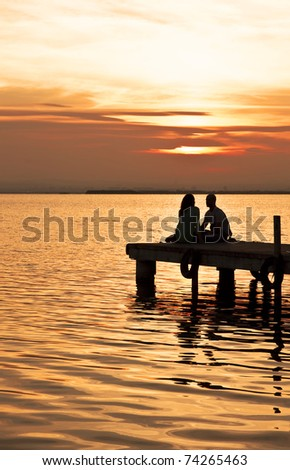 shared moments - stock photo