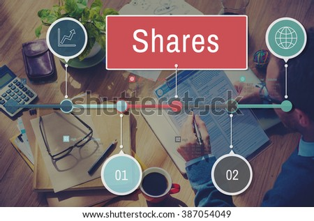 Shares Sharing Social Networking Connection Global Communications Concept - stock photo