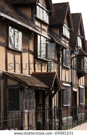 Sharespeare's Birthplace Home, Stratford upon avon - stock photo