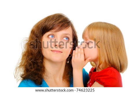 Sharing a secret - stock photo