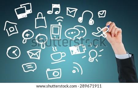Sharing, Marketing, Social Issues. - stock photo