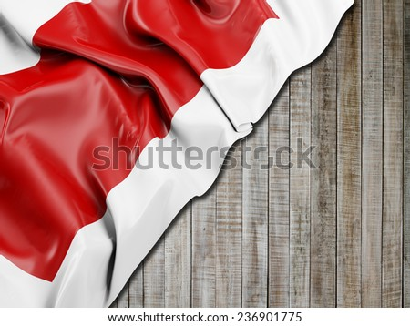 Sharjah Flag with vertical wood - stock photo