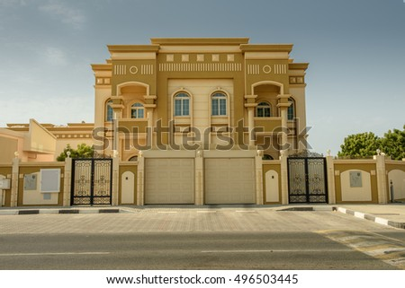 Arabic villa stock images royalty free images vectors Style house fashion trading company uae