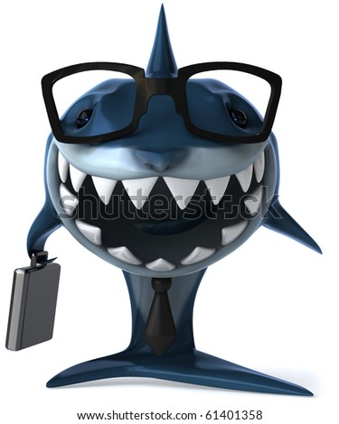 Shark and business - stock photo