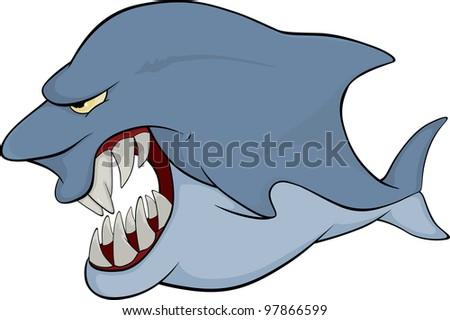 Shark. Cartoon - stock photo