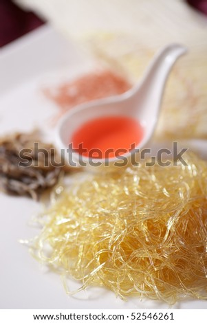 shark's fin, seafood - stock photo