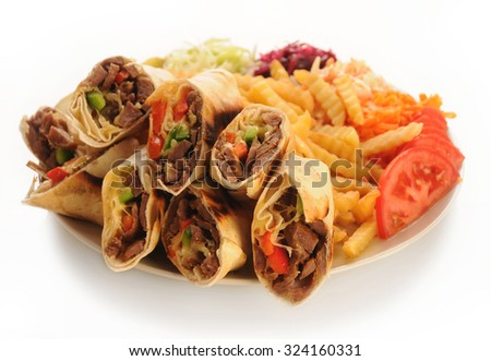 Sharma kebab - stock photo
