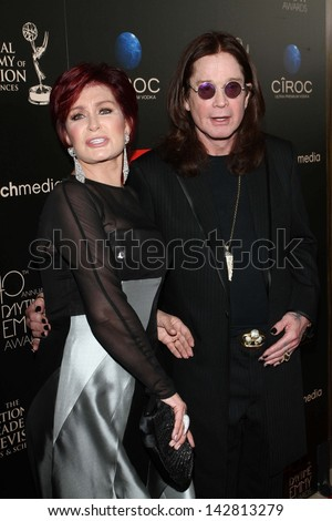 Sharon Osbourne and Ozzy Osbourne at the 40th Annual Daytime Emmy Awards, Beverly Hilton Hotel, Beverly Hills, CA 06-16-13 - stock photo
