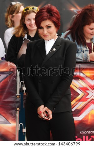 "Sharon Osbourne arriving for the new series of ""X Factor"" at EXCEL, Docklands, London. 19/06/2013 - stock photo"