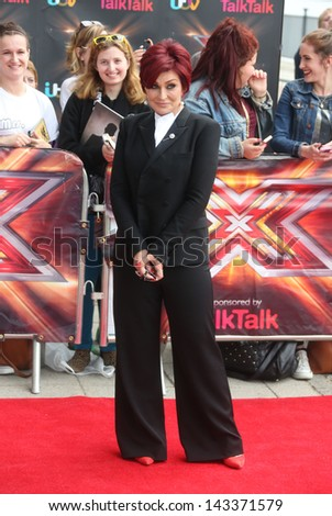 Sharon Osbourne at The X Factor auditions held at London Excel London. 19/06/2013 - stock photo