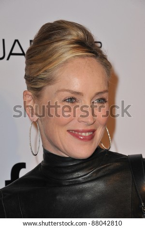 Sharon Stone at the launch of amfAR's L.A. Event celebrating Men's Style at the Chateau Marmont Hotel, West Hollywood. October 27, 2010  Los Angeles, CA Picture: Paul Smith / Featureflash