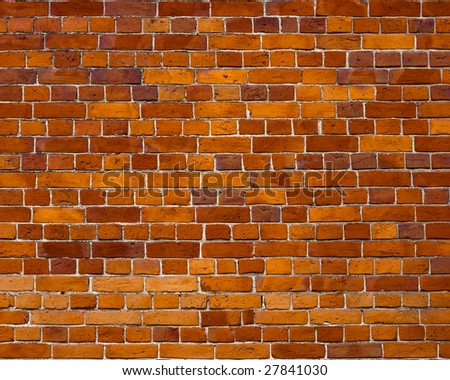 Sharp and colorful brick wall of 19th century - stock photo