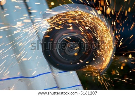 sharpen steel - stock photo