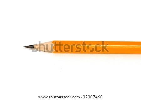 Sharpened Pencil Close Isolated on a White Background - stock photo