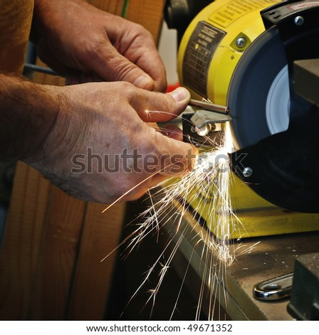 Sharpening - stock photo