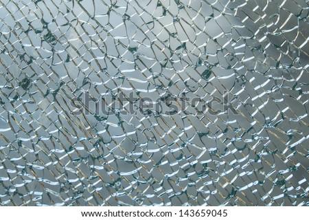 Shattered Windshield - stock photo