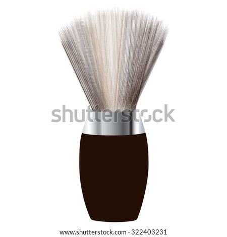 Shave brush, shaving brush raster, shaving brush icon