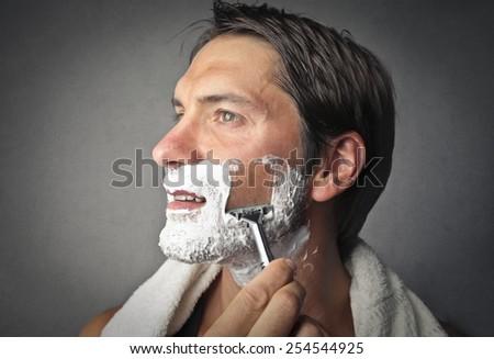 Shaving  - stock photo