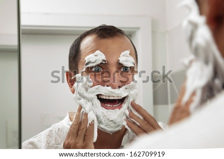 Shaving make me fun - stock photo