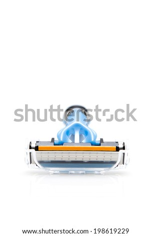 Shaving razor isolated on a white background