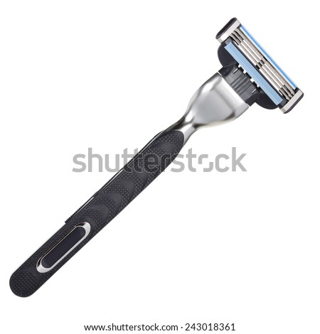 Shaving razor isolated on a white background. With clipping path - stock photo
