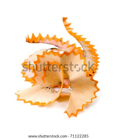 Shavings isolated on white background - stock photo
