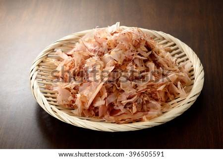 Shavings of dried bonito,Japanese food - stock photo