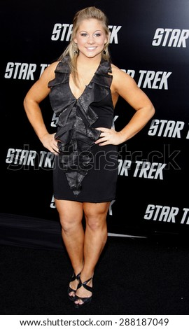 Shawn Johnson at the Los Angeles premiere of 'Star Trek' held at the Grauman's Chinese Theater in Hollywood on April 30, 2009.
