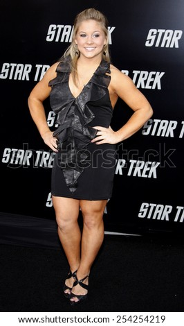"Shawn Johnson at the Los Angeles Premiere of ""Star Trek"" held at the Grauman's Chinese Theatre in Hollywood, California, United States on April 30, 2009."