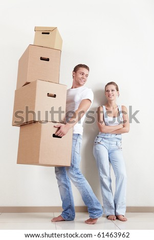 She looks like a man carries boxes