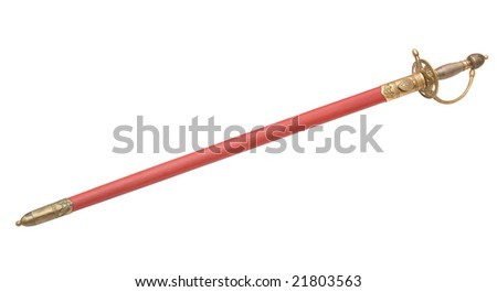 Sheathed rapier - stock photo