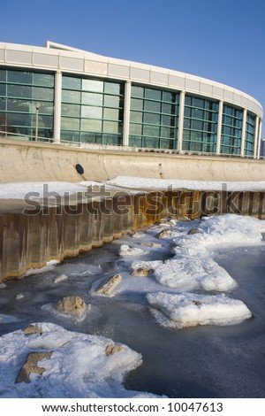 Shedd Aquarium in downtown Chicago. - stock photo