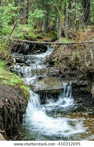 Sheep River Falls, Alberta - stock photo