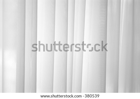 Sheer white voile curtain background - stock photo