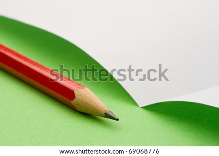 Sheet and pencil isolated - stock photo