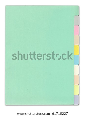 Sheet color on white background - stock photo