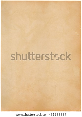 Sheet of an old photo paper, isolated on white background - stock photo