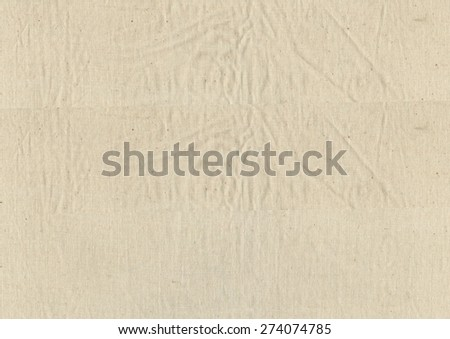 sheet of canvas useful as a background - stock photo