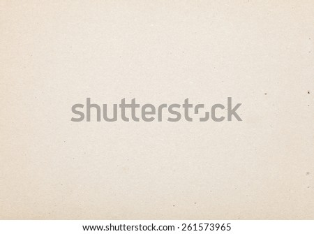 Sheet of cardboard made from recycled paper with texture and details - stock photo
