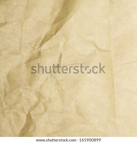 Sheet of crumpled old paper