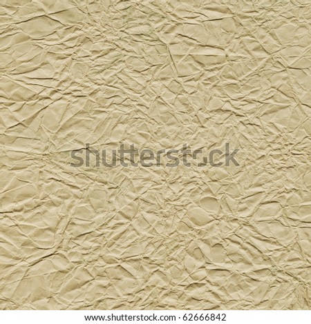 Sheet of crumpled paper - stock photo