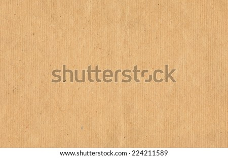 Sheet of kraft paper. Good file for background or scrapbook - stock photo